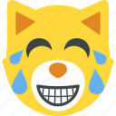 bear emoji, bear face, emoticon, laughing icon