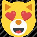 cat emoji, emoji, feeling loved, happy smiley, in love icon