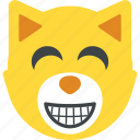 bear emoji, bear face, emoji, emoticon, laughing icon