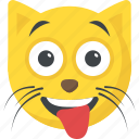cat emoji, cat face, cheeky, expressions, naughty icon