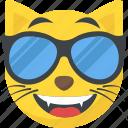 cat emoji, cool emoji, emoticon, naughty, sunglasses emoji icon