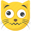 cat emoji, confounded face, confused, emoji, smiley icon