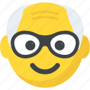 expressions, grandfather emoji, grandpa, old man, smiley icon