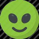 alien emoticon, emoticon, happy face, laughing, smiley face icon