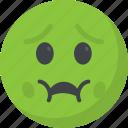 emoticon, nauseated, puke emoji, throw up, vomiting face icon