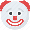 clown emoji, emoji, emoticon, jester, joker icon