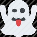 emoji, emoticon, ghost emoji, ghoul, scary icon
