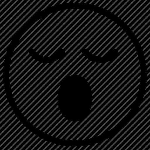 face, sleepy, smiley, tired, yawn icon