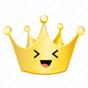 crown, emoji, fun icon