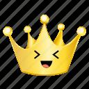 crown, emoji, fun icon