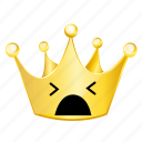 crown, emoji, shock icon