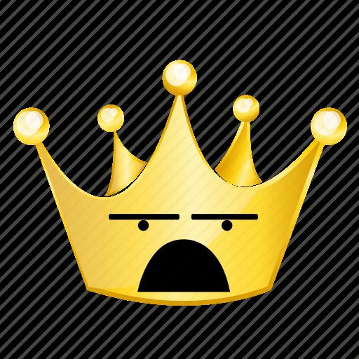 crown, emoji, wonder icon