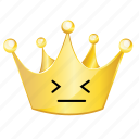 afraid, crown, emoji icon