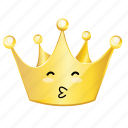 crown, emoji, kiss icon