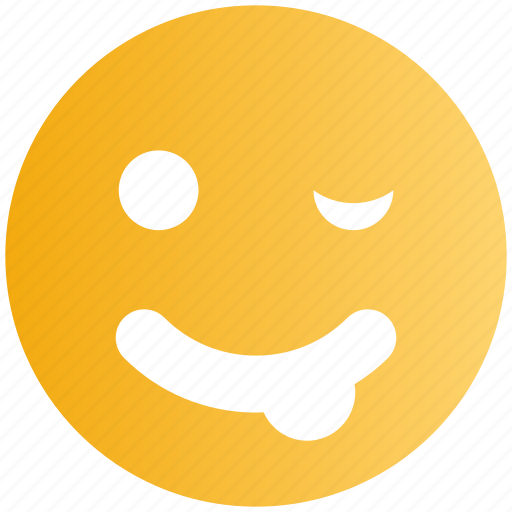 Cheeky, emoticons, emotion, expression, face smiley, nodding, smiley icon - Download on Iconfinder