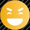 big grin, emoticons, emotion, expression, face smiley, laugh, smiley