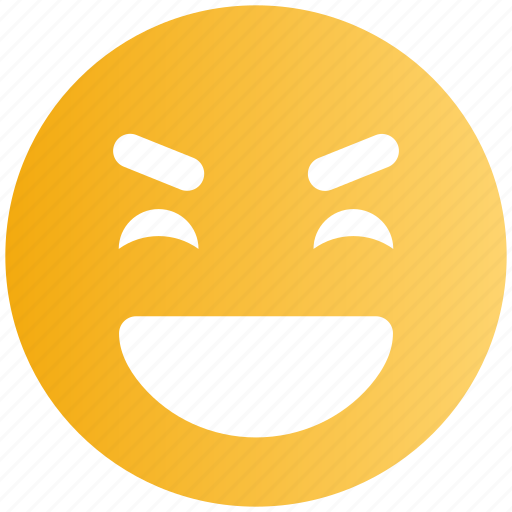 Big grin, emoticons, emotion, expression, face smiley, laugh, smiley icon - Download on Iconfinder