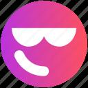 attitude, emoji, expression, face, facial, glasses, smiley