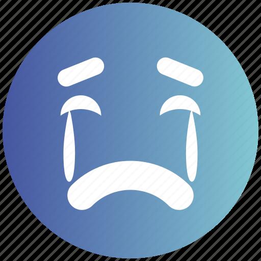 amazed face, angry, emoticons, emotion, expression, sad, weeping icon