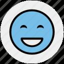 big grin, emoticons, emotion, expression, face smiley, laugh, smiley icon