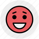 adoring, emoticons, emotion, expression, face smiley, happy, laughing icon