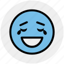 emoticons, emotion, excited, expression, face smiley, laughing, smiley icon