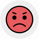 angry, emoticons, emotion, expression, gaze emoticon, smiley, stare emoticon icon