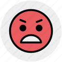 angry, emoticons, emotion, expression, face, gaze emoticon, rage icon