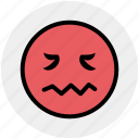 angry, emoji, expression, face, sad, sadness, unhappy icon
