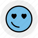 emoji, emoticons, face, heart, in love, love, smiley