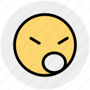 angey, emoji, emotion, emotions, face, sad, unhappy icon