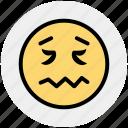 emoticons, emotion, face smiley, lip seal, rage, sad, smiley icon