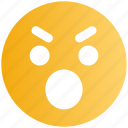 angry, emoticons, emotion, expression, eyebrow smiley, smiley, stare emoticon icon
