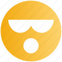 emoji, face, expression, smiley, facial, attitude, glasses