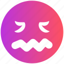 emoticons, emotion, expression, lip seal, lour, sad, smiley icon