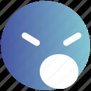 angey, emoji, emotion, emotions, face, sad, unhappy icon