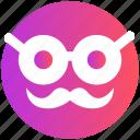 emoji, emoticons, face, glasses, man, old, smiley