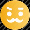 emoji, emoticons, face, man, old, smiley
