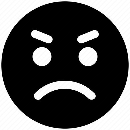 angry, angry face, emoticons, emotion, expression, gaze emoticon, smiley, stare emoticon icon