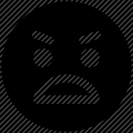 angry, emoticons, emotion, expression, face, gaze emoticon, rage, smiley, stare emoticon icon