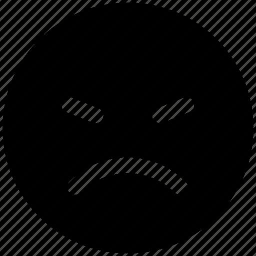 bemused face, dull, gaze emoticon, mmm, nodding icon