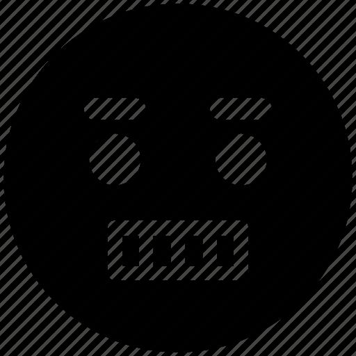 boring, dull, emoticons, emotion, expression, face smiley, smiley, stare emoticon icon