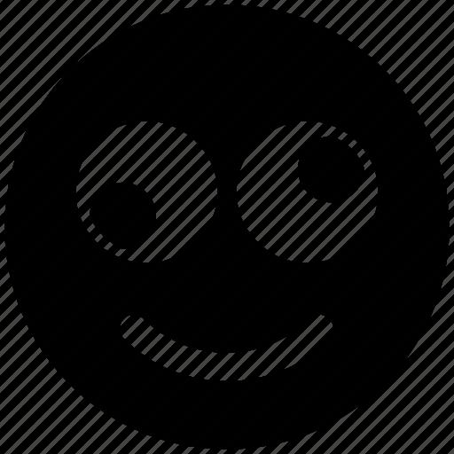 emoji, expression, eyes, face, funny, funny smile, rolling eyes, smiley icon