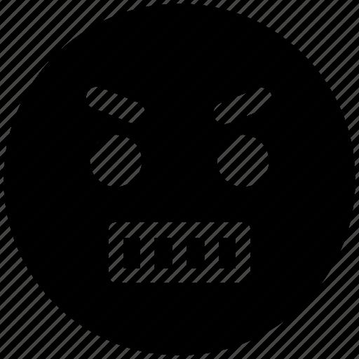 angry, expression, gaze emoticon, loudly, sad, serious icon