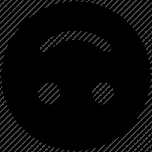 down, emoji, emoticon, face, happy, smile, smiley face, upside icon