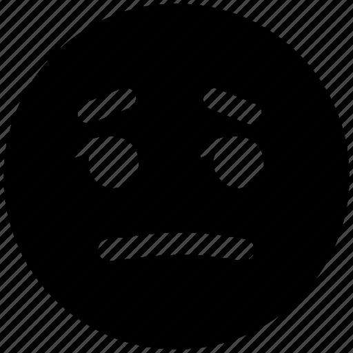 emoticons, emotional, expression, nodding, sad, see, smiley, twinkle icon