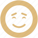 emoticon, face, happy, loved, sadness, smile, smiley icon