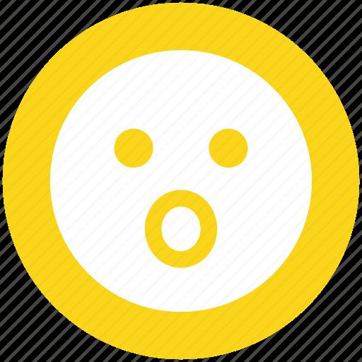 emoticons, emotion, face smiley, gaze emoticon, smiley, surprised, yawn icon