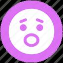 emoticons, emotion, expression, face, sad, smiley, worried