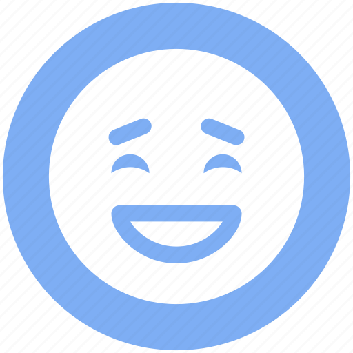 emoticons, emotion, excited, face smiley, happy, laughing, smiley icon